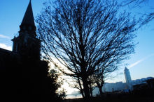 December Dusk, <br />St Mary&#039;s Church, Chelsea Harbour