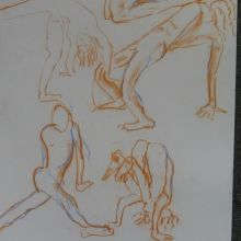 2-minute sketches of a model/acrobat